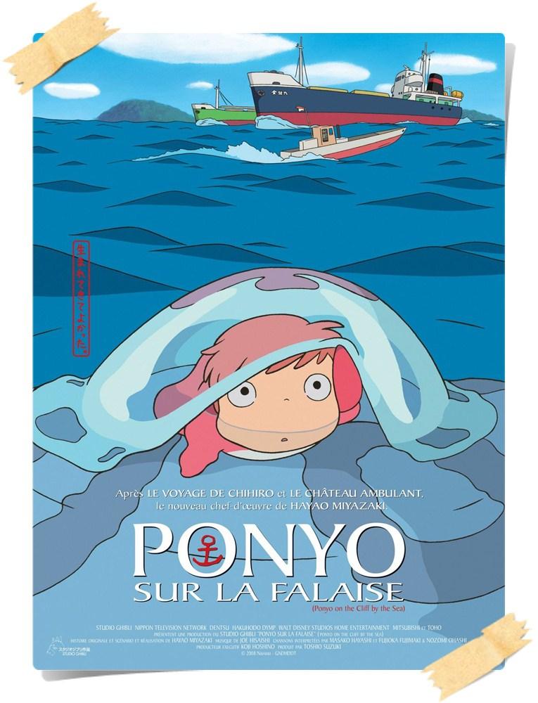 gake no ue no ponyo xlg Küçük Denizkızı Ponyo / Gake no ue no Ponyo (2008) Studio Ghibli Princess Mononoke Ponyo on the Cliff by the Sea My Neighbor Totoro Miyazaki Hayao Miyazaki Anime Animation