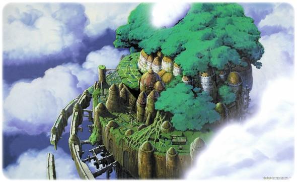 021 Laputa; Castle In The Sky (1986) Laputa Hayao Miyazaki Gökteki Kale Anime