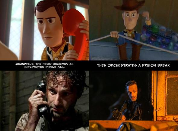 Bu sırada kahramana beklemediği bir telefon gelir. / Daha sonra hapishaneden kaçışı idare eder.