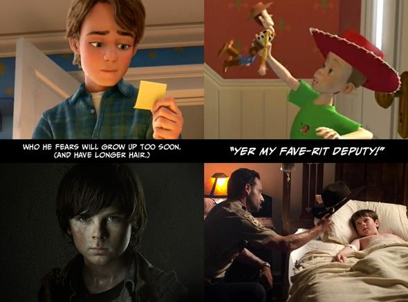 """Erkenden büyüyeceğinden (ve saçlarını uzatacağından) korktuğu bir çocuk. """"Benim favori polisim sensin!"""""""
