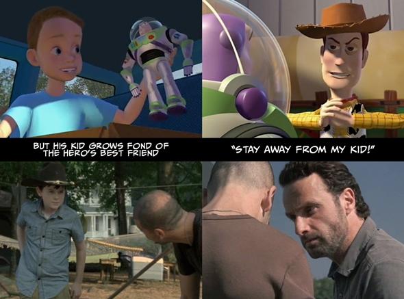 """Ama çocuk kahramanın en iyi arkadaşını sevmeye başlar. """"Çocuğumdan uzak dur!"""""""