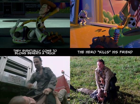 """Nihayetinde bir kamyonun yanında kapışırlar. Kahraman arkadaşını """"öldürür""""."""