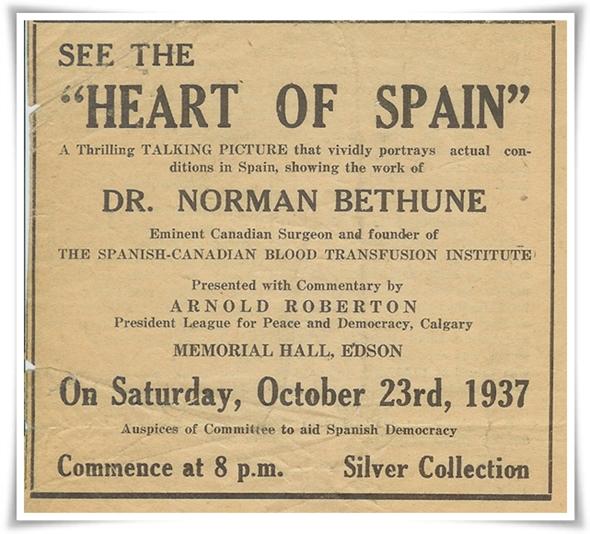 Heart of Spain reklam 1937