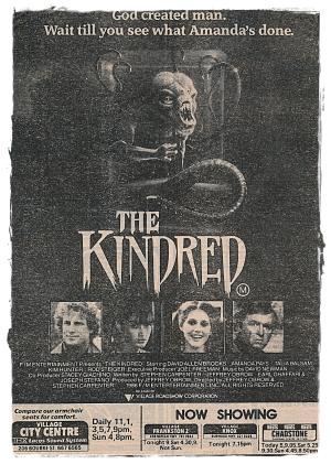 The Kindred gazete ilanı