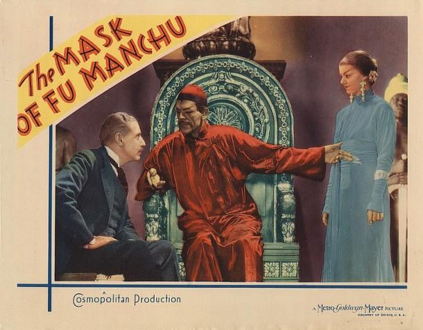 Lot 419 Boris Karloff lobby card for The Mask of Fu  Manchu