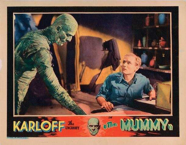 Lot 421 Boris Karloff lobby card for The Mummy