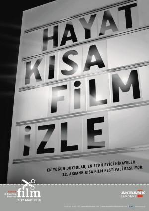 12. Akbank Kısa Film Festivali afiş